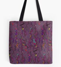 Deep Purple Doodles Abstract Watercolor Tote Bag