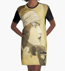 Bohemian Woman Graphic T-Shirt Dress