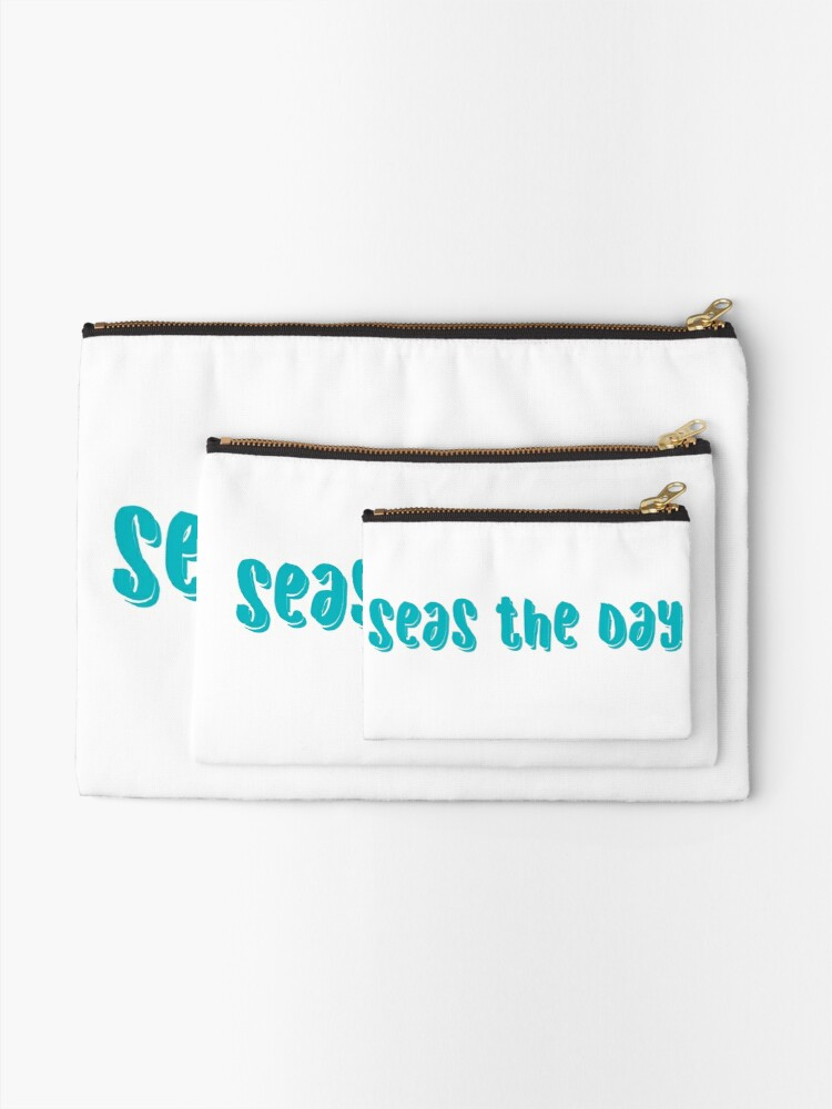 Alternate view of seas the day- sky blue  Zipper Pouch