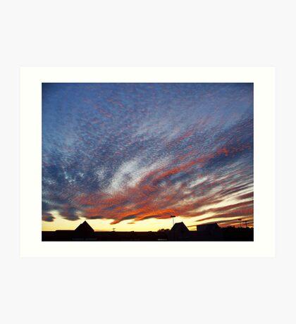 Mysterious Unusual Sky   Art Print