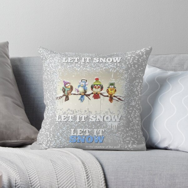 Chilly Birds! Throw Pillow