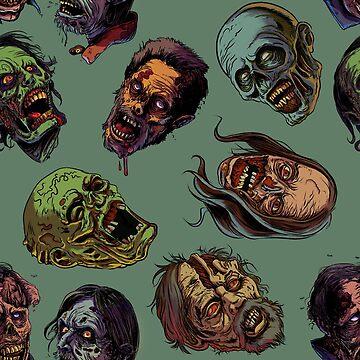 Zombies TWD pattern by rubenlopezart