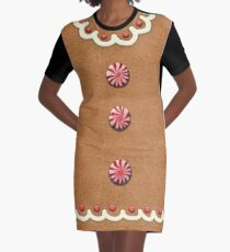 Gingerbread Cookie - Girl Traditional Graphic T-Shirt Dress