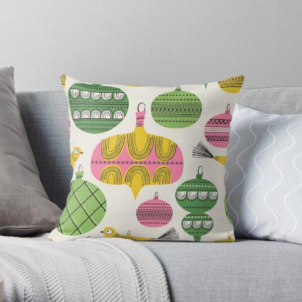 Elegant Holiday Baubles ~ Festive Fun! Throw Pillow