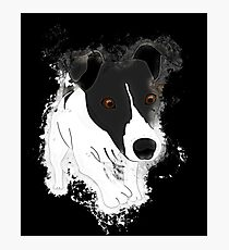 Dog funny glowing Art Photographic Print
