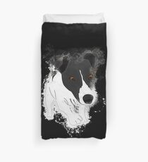 Dog funny glowing Art Duvet Cover