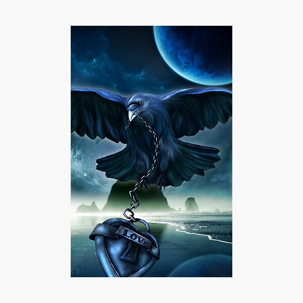 Raven Love Photographic Print