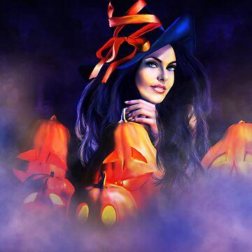 Jack-O-Lantern Witch by indigocrow