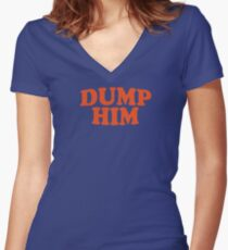 DUMP HIM - Britney Spears message tee Women's Fitted V-Neck T-Shirt