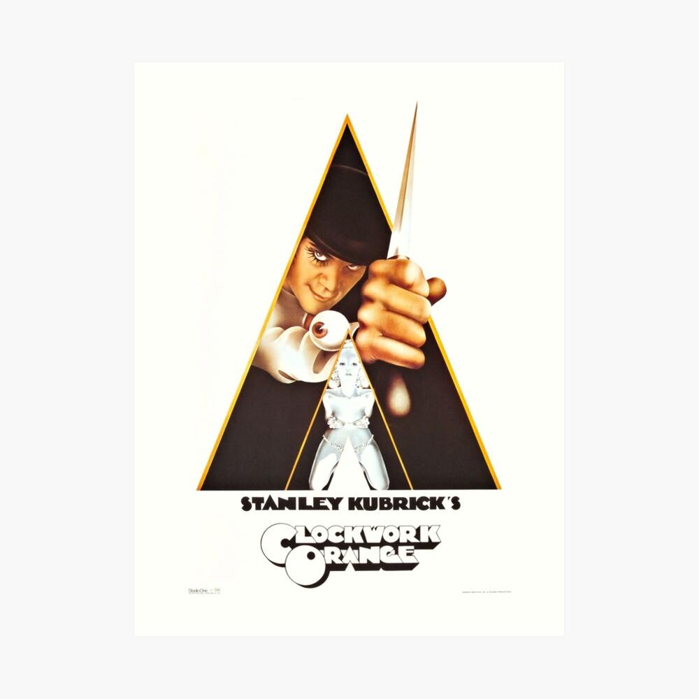Vintage 1971 A Clockwork Orange, Posters, Movie, Retro Art Print