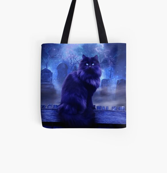 The Witches Familiar All Over Print Tote Bag
