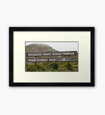 Macquarie Island Sign Framed Print