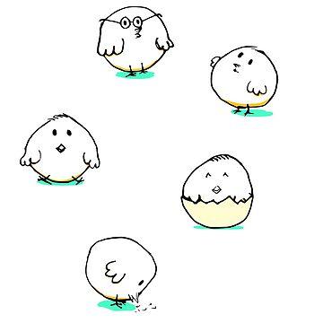 Cute chicks by habi8