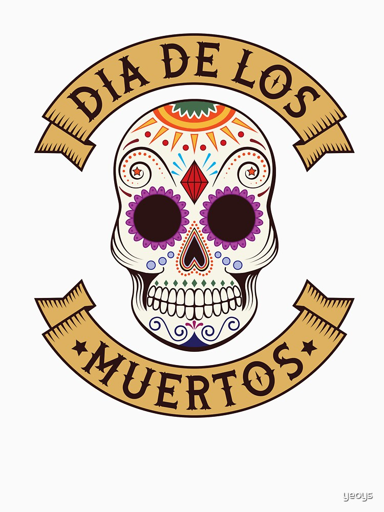 Dios De Los Muertos Skull Head - Day Of The Dead Gift von yeoys
