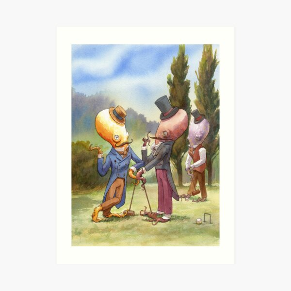 Croquet Debate Art Print