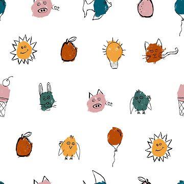 children's scribbled polkadot by B0red