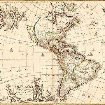 Map of North and South America (1660) by allhistory