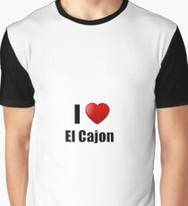 El Cajon I Love City Lover Pride Funny Gift Idea Graphic T-Shirt