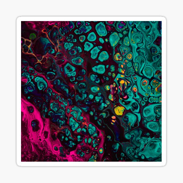 Crunchberries - Teal & Pink Abstract Sticker