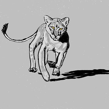 Lion greyscale by thebigG2005