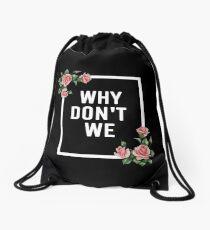 Black Logo wdw Drawstring Bag