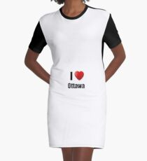 Ottawa I Love City Lover Pride Funny Gift Idea Graphic T-Shirt Dress