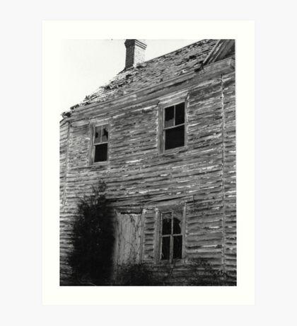 abandoned house in Harrisonville, NJ Art Print