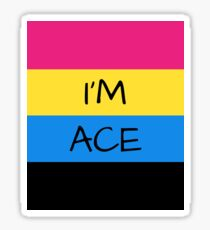 DEMI PANROMANTIC ASEXUAL FLAG I'M ACE ASEXUAL T-SHIRT Sticker