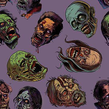 Zombies TWD pattern 3 by rubenlopezart