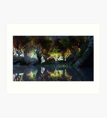 Autumnal (Night) Art Print