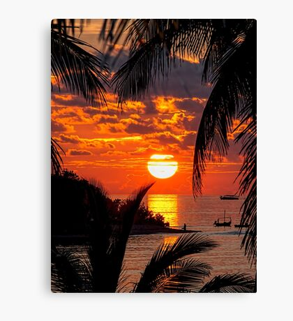 Sunset at Kandooma Island Canvas Print