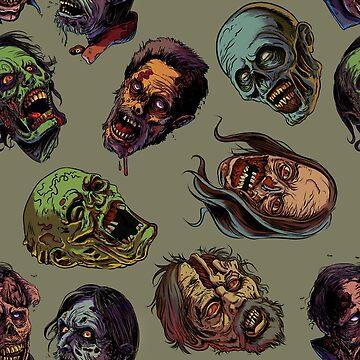 Zombies TWD pattern 4 by rubenlopezart