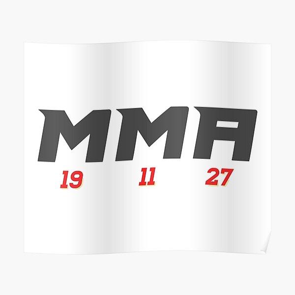 Calgary Flames MMA Line Poster