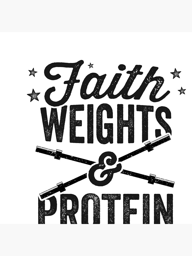 Faith Weights And Protein Shakes T Shirt Jesus Gains Joke Art Board Print By 14thfloor Redbubble