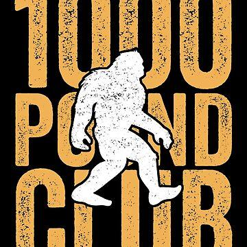 1000 Pound Club T-Shirt, Sasquatch Weight Lifting Gym Gift by 14thFloor