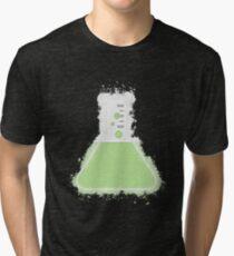 Flask beaker glowing Art Tri-blend T-Shirt