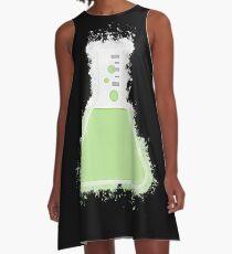 Flask beaker glowing Art A-Line Dress