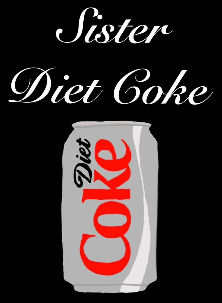Etiqueta engomada del coque de la dieta de la hermana» de
