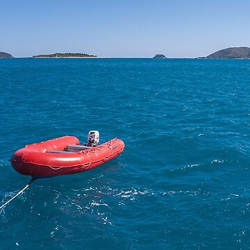 Sailing Along with the Dinghy in Tow by fotoWerner