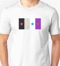 Panromantic Stars Asexual Flag Stripes Asexual T-Shirt Unisex T-Shirt