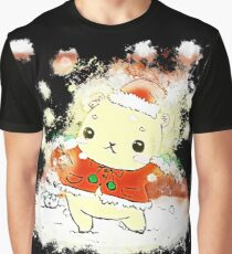 Christmas bear glowing Art Graphic T-Shirt
