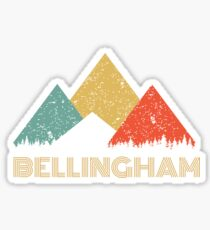 Retro City of Bellingham Mountain Shirt Sticker