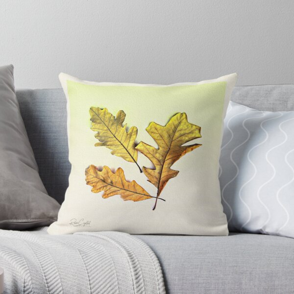 Leaves Of Oak We 3 Be Throw Pillow