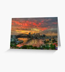 Oh What a Beautiful Morning - Moods Of A City,Sydney Australia - The HDR Experience Greeting Card