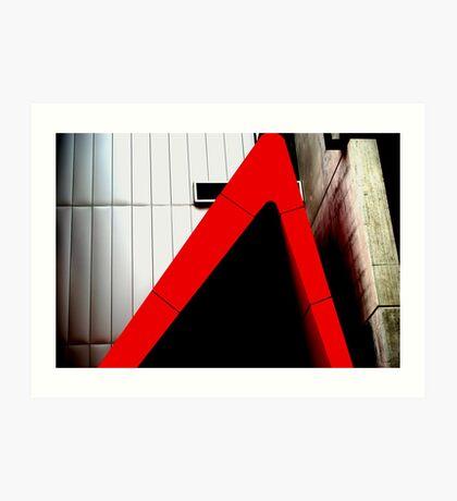 Urban Red Triangle Art Print