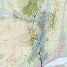 Hudson River Watershed Map - Modified Landscape by kmusser