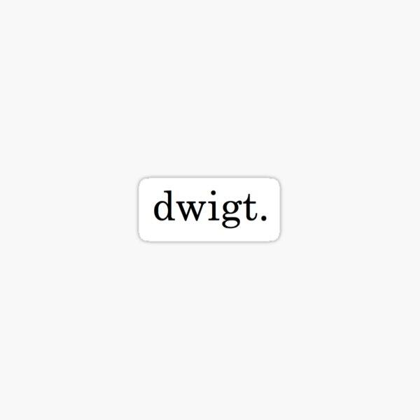 dwigt. - threat level midnight Sticker