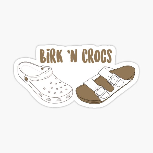 Birk n Crocs Sticker
