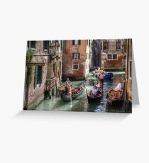 ...traffic jam in Venice.. Greeting Card