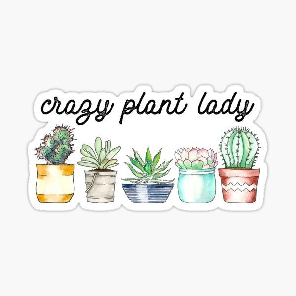 Crazy Plant Lady on mint Sticker